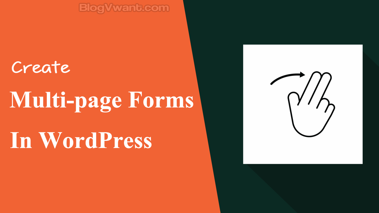 Create multi-page forms