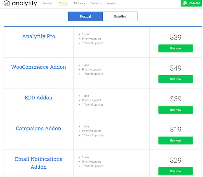 Analytify_NormalPlans