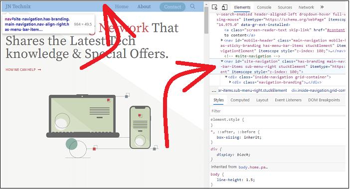 Finding-CSS-ID-of-Navigation-Menu