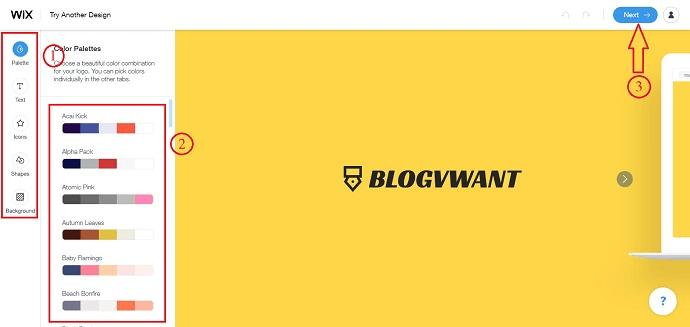 Logo Customization in Wix