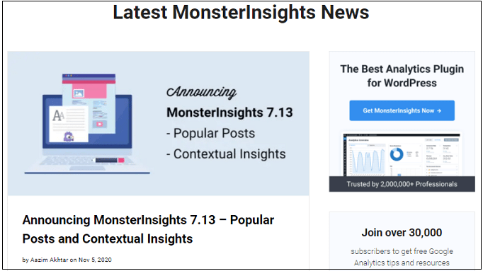 MonsterInsights-7.13-to-get-crazy-engagement-With-Popular-Posts-Lists-In-WordPress