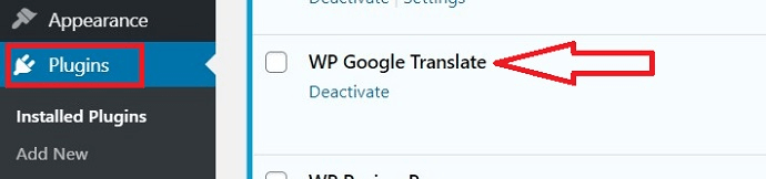 Wp google translate plugin