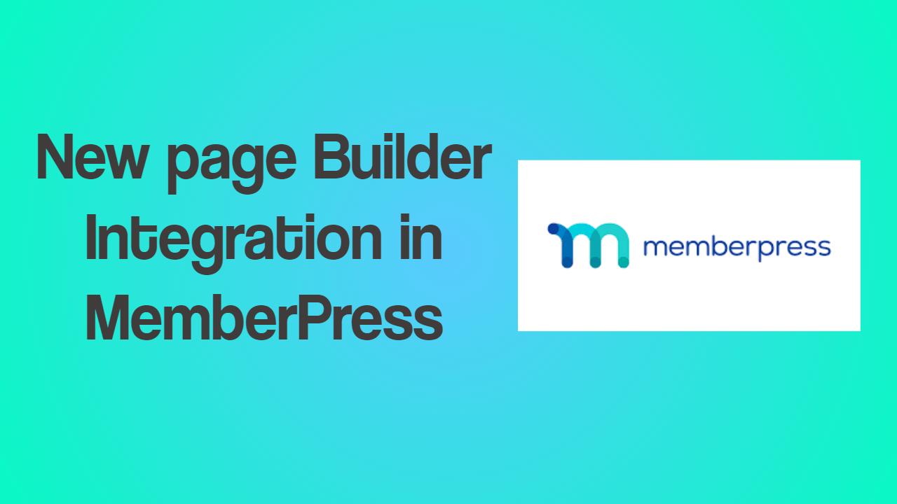 PageBuilder Integration in MemberPress