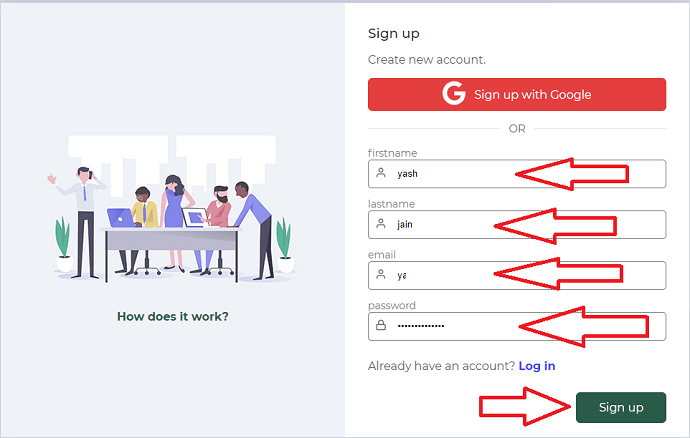 Step 1 Sign up or Login to GetEmail