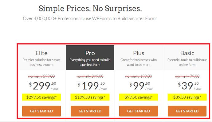 Step 1: Purchase WPForms plugin