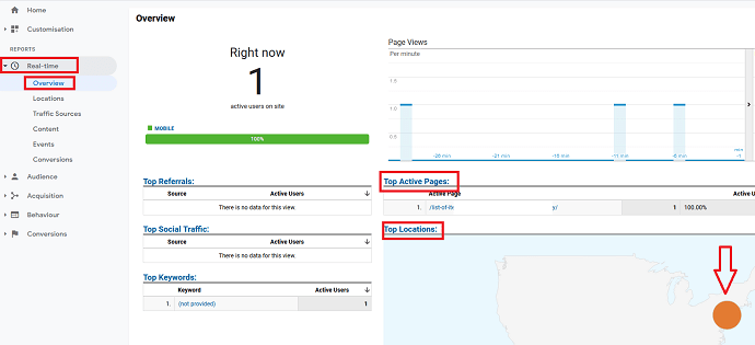 Method 1 Using Google Analytics to Track Real-Time Traffic Source
