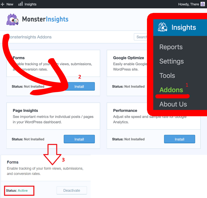 Step 2 Install or Enable the Form Addon
