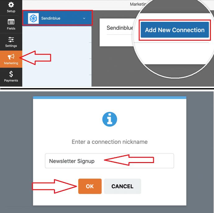 Step 7 Enable Sendinblue integration on Forms