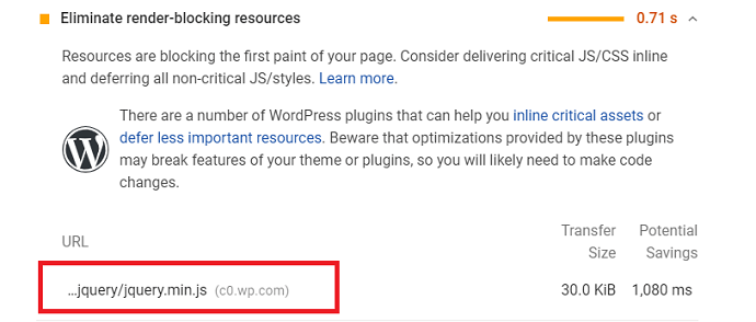 Google Page Speed recommend to defer the JavaScripts that affecting the LCP score