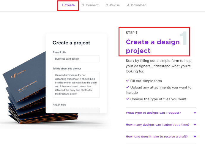 Step 1 Create a Project (How Penji Works)