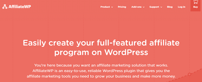 4. Affiliate WP - Another Paid WordPress Referral Plugins