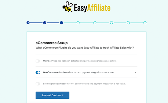 EasyAffiliate Feature - Simple and Smooth Setup
