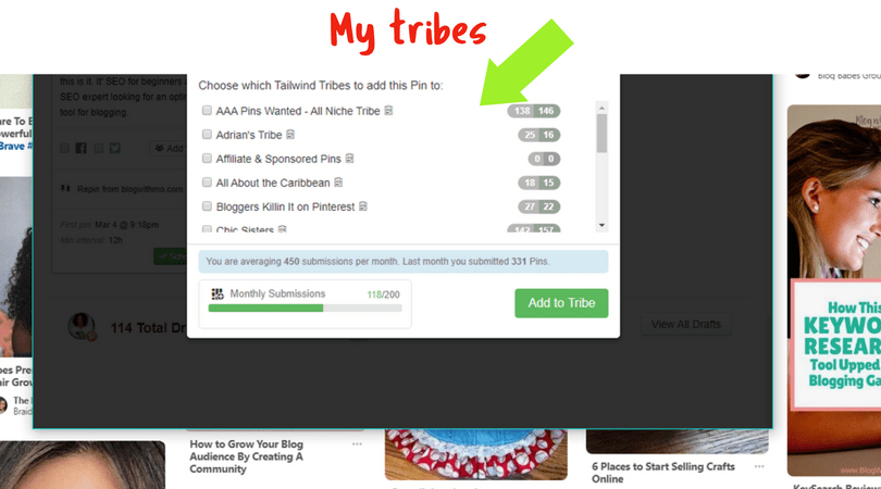How to schedule pins in Tribes with the Tailwind App