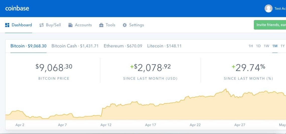 buying bitcoin on coinbase