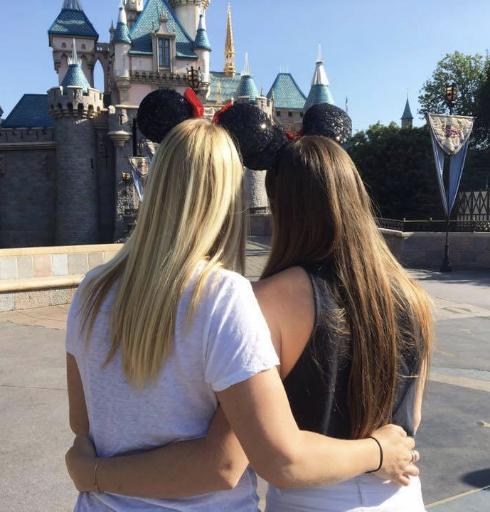 Two girls at Disneyland in California