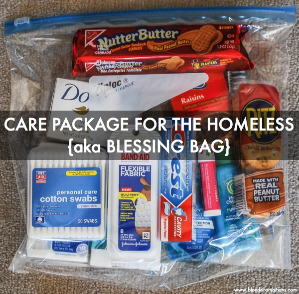 HOW TO MAKE CARE PACKAGES FOR THE HOMELESS {aka BLESSING