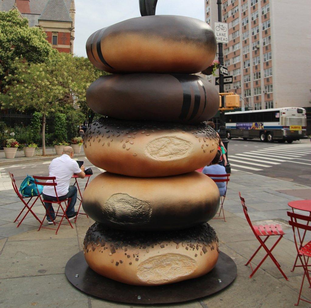 "New York Photo Opp: Hanna Liden's ""Everything"" Bagel Installation"