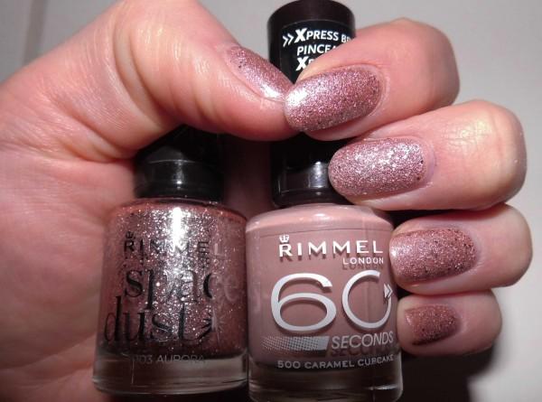 nails-rimmel-caramel-cupcake-space-dust-aurora-1