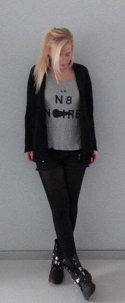 OOTD-outfit-of-the-day-vest-new-yorker-black-en-grey-shorts-primark-1