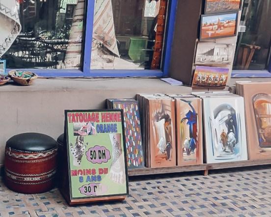 Ensemble Artisanal moroco henna art paintings shopping