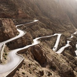 high atlas mountains, road
