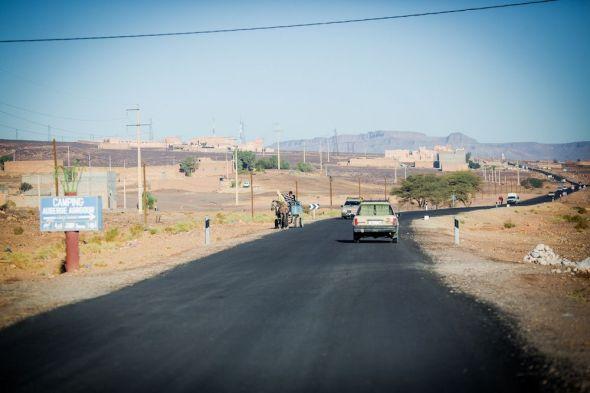 morocco, road, scenery