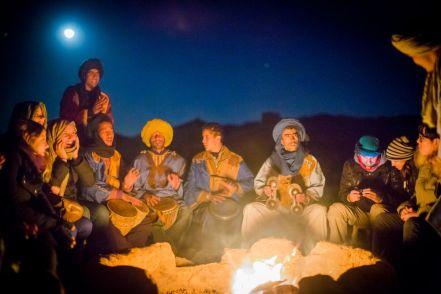 desert, camp, night, light, fireplace, music, people, musicians