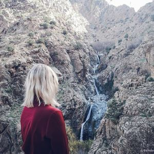 ourika valley waterfall mountains morocco