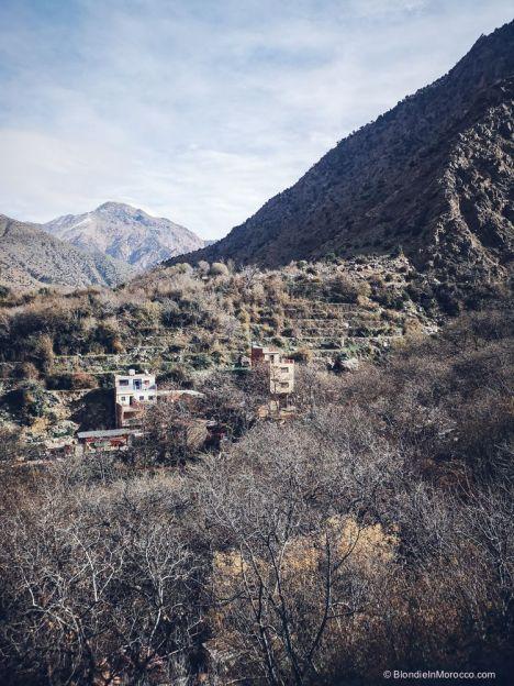 mountains, high atlas, village, morocco, ourika valley