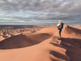 desert dunes pose scenery merzouga