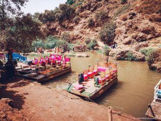 ouzoud waterfall morocco boat