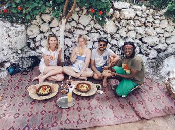 ozoud, morocco, lunch, tagine, morocco, rasta