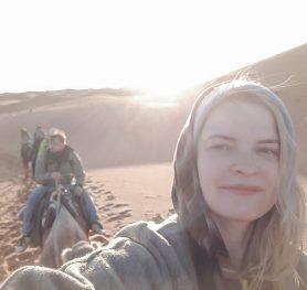 desert morocco camel dunes merzouga girl