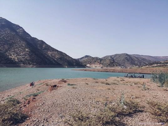 Ouirgane, morocco, lake, artificial