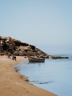 beach morocco sand water birdwatching boat