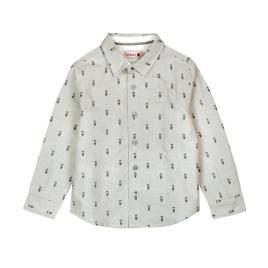 CAMISA OXFORD GRIS ESTAMPADO HIPSTERS – BOBOLI