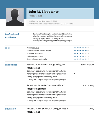 Free Resume Examples - Examples of Professional Resumes