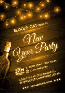 Nouvel An Bloody Cat Affiche
