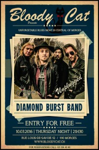 Affiche Diamond Burst Band Bloody Cat