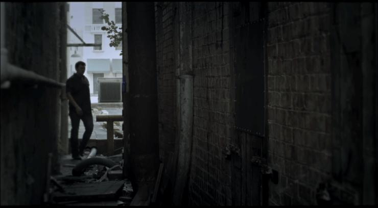 abandoned back alley