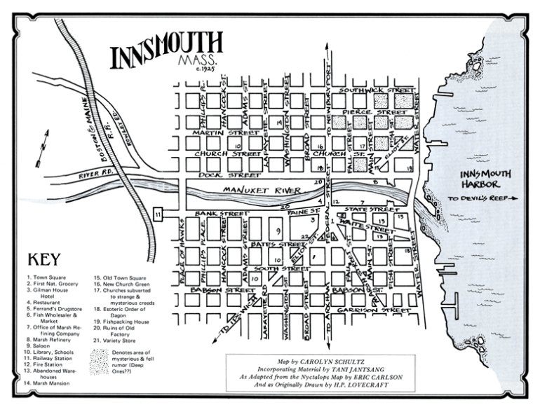 Map of Innsmouth