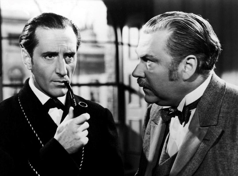 Basil Rathbone and Nigel Bruce