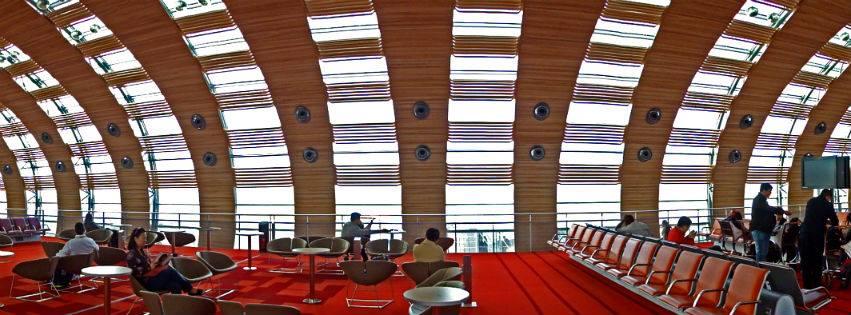 indside the aeroport de paris