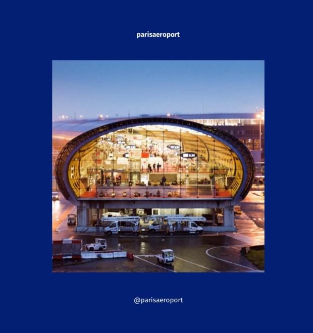 Couverture du blook de l'Instagram de Aéroports de Paris