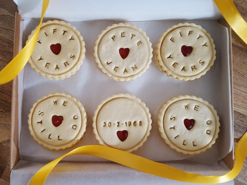personalised Anniversary biscuits