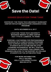 Texas Tech University Higher Education Think Tank