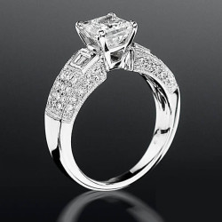 Pave Wide Diamond Band With Intricate Milgrain Edging And