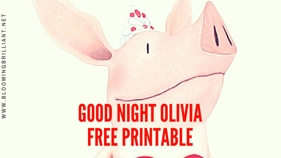 Free Printable of Good Night Olivia Song Lyrics.