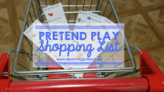 Pretend Play Shopping Lists
