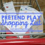 Pretend Play Shopping Lists